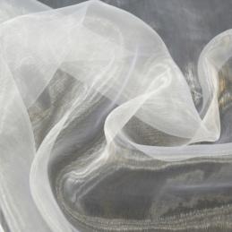Sheer Organza Fabric Voile Drape Curtain, Wedding Fabric 150cm Wide White