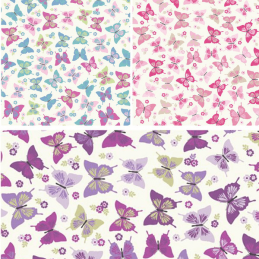 100% Cotton Fabric Lifestyle Flutterby Butterflies Floral Flowers 140cm Wide
