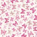 Light Pink 100% Cotton Fabric Lifestyle Flutterby Butterflies