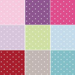 100% Cotton Fabric Lifestyle 10mm Dotty Spots Polka Dots 140cm Wide