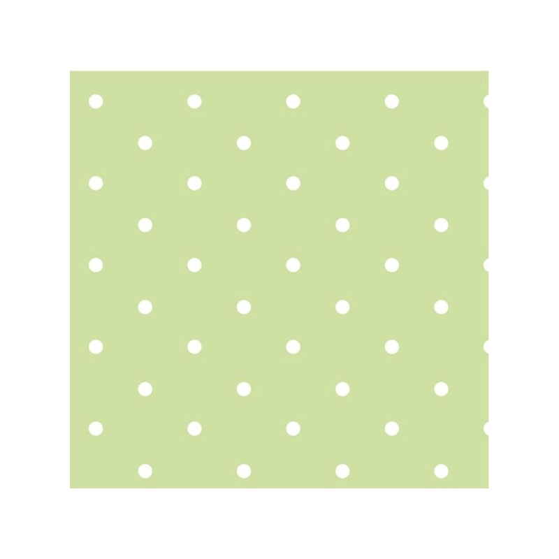 Lime Green 100% Cotton Fabric Lifestyle 10mm Dotty