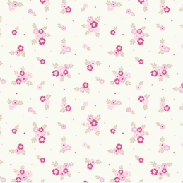 Light Pink 100% Cotton Fabric Lifestyle Ditsy Flowers Floral Polka Dots