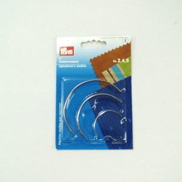Prym Set of 3 Curved Upholsterer's Needles Upholstery Furniture Mending