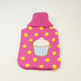 Wool Novelty Hot Water Bottle Covers Cakes Hearts Shoes Cats Sweet Dreams