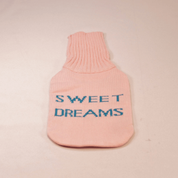 Knitted Wool Novelty Hot Water Bottle Covers Cakes Hearts Shoes Cats Dreams