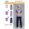 Simplicity Sewing Pattern 1020 Misses Easy To Sew Nurses Doctors Scrubs AA