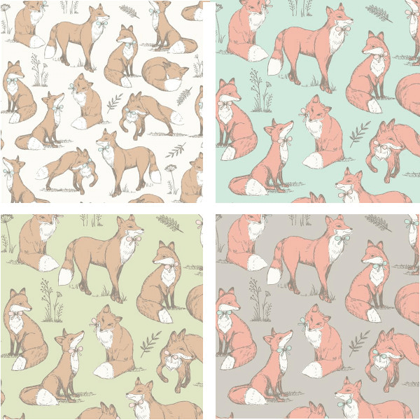Cream 100% Cotton Fabric Lifestyle Mrs Fox