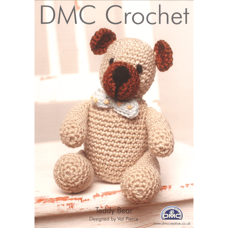 Teddy Bear with a Bow or Tie Kids Toys Craft DMC Petra Crochet Pattern D11887L2