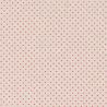 Cotton Rich Linen Look Fabric 4mm Polka Dot Pin Spot Red Gold Natural Upholstery