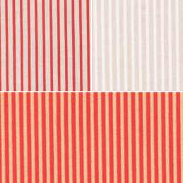 4mm Stripy Stripes Red Natural Gold Cotton Rich Linen Look Upholstery Fabric
