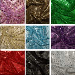 3mm Sequin Fabric Sparkly Stretch Metallic Jersey