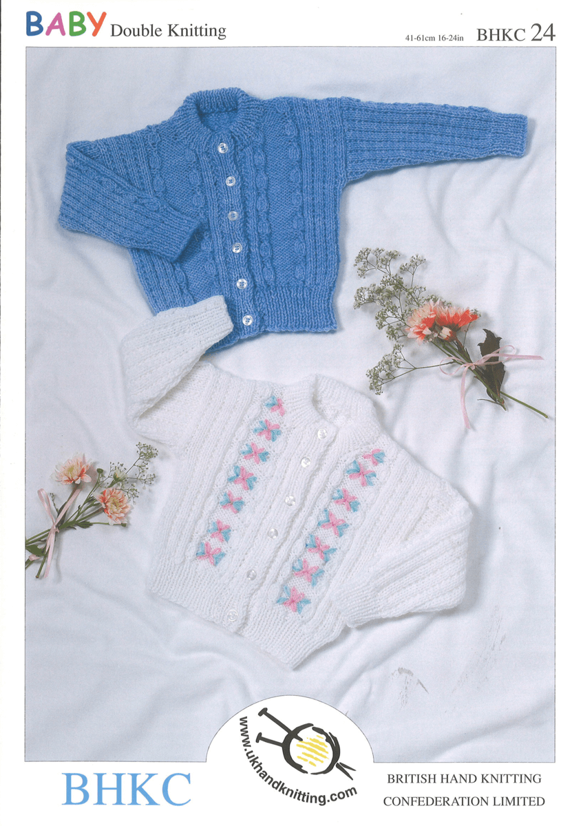 Tyrolean Style Cable Detail Cardigan Babies Kids BHKC Knitting Pattern BHKC24