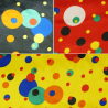 Crazy Spots in Funky Circles Silky Satin 150cm Wide