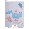 Embroidered Jumpers Sweaters Babies Kids BHKC Knitting Pattern BHKC25
