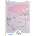 Baby Girls Bow Detail Cardigan or Jumper BHKC Knitting Pattern BHKC27