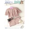 Baby Long or Short Sleeve Cardigan Diamond Pattern BHKC Knitting Pattern BHKC43
