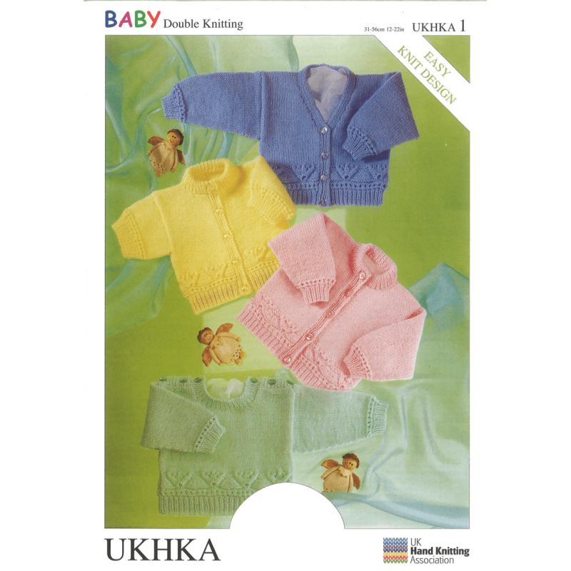 Long or Short Sleeve Jumper Cardigans Flower Detail Knitting Pattern UKHKA1