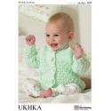 Baby Lattice Design Cardigans Knitting Pattern UKHKA109