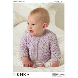 Baby Cross Lattice Cable Pattern Cardigan and Shrugs Knitting Pattern UKHKA111