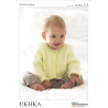 Baby Ruffle Effect Cardigan or Jumper Knitting Pattern UKHKA115