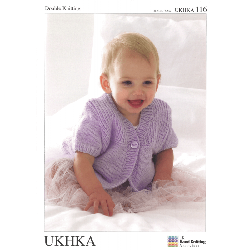 Baby Girl Ribbed Mix and Match Cardigans Hat Scarf Knitting Pattern UKHKA116
