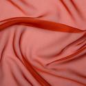 Cationic Chiffon Two Tone Fabric Burnt Orange
