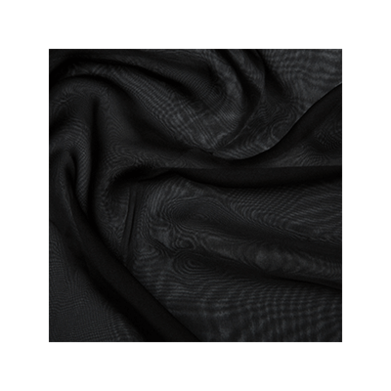 Cationic Chiffon Two Tone Fabric Black