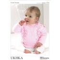 Baby Chevron Design Jumper Cardigan Hat Set Knitting Pattern UKHKA119