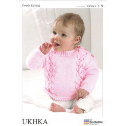 Baby Chevron Design Jumper Cardigan Hat Set Knitting Pattern UKHKA119