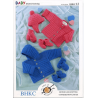 Baby Winter Set Jacket Cardigan Hat Mittens Booties Knitting Pattern UKHKA12