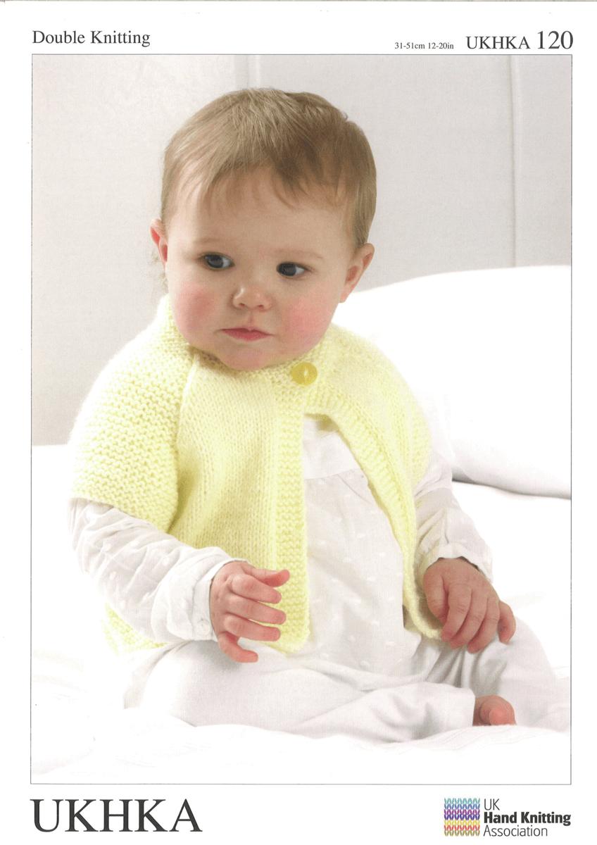 Baby Cuddly Cardigans Shrug Boleros and Matching Hat Knitting Pattern UKHKA120