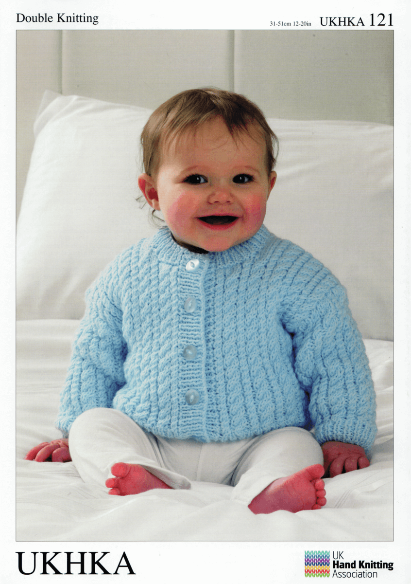 Baby Cuddly Cardigans Shrug Boleros and Matching Hat Knitting Pattern UKHKA120