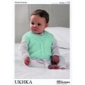 Baby Rope Twist Cable Cardigan Waistcoat Slipover Vest Knitting Pattern UKHKA122