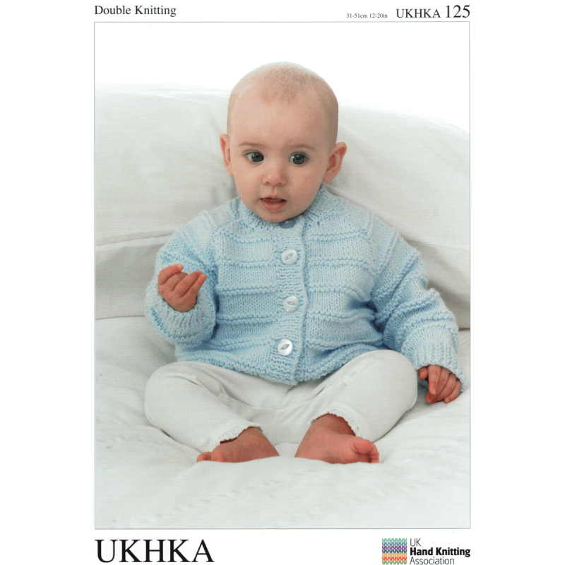 Baby Various Ribbed Cardigans Round, V or Shawl Neck Knitting Pattern UKHKA125