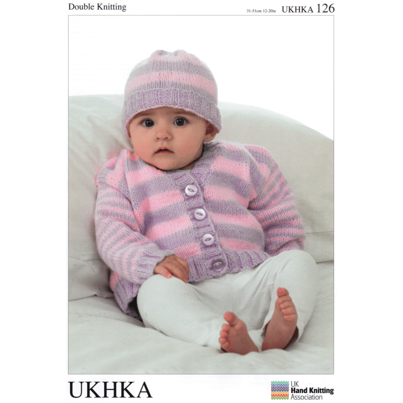 Baby Striped Mix And Match Classic Knit Cardigan Hat Knitting Patte