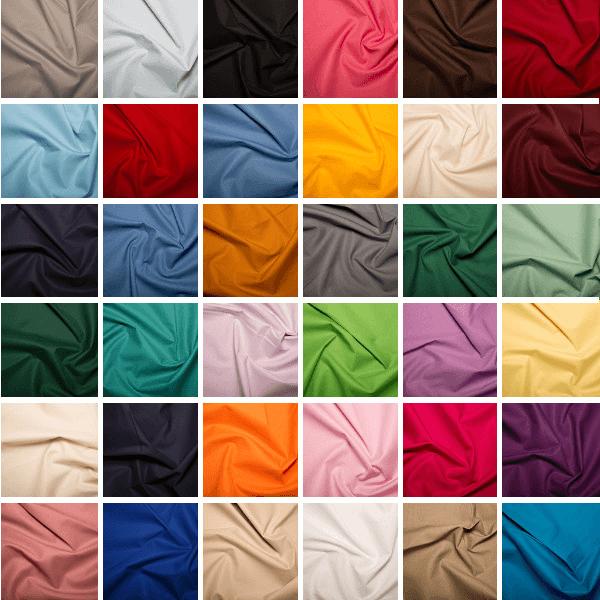 100% Cotton Fabric Klona Plain Material Craft Fabric White