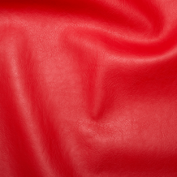 Red Plain Soft PVC Leathercloth Faux Leather Polyester Fabric 142cm Wide
