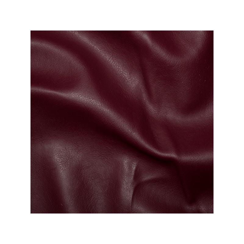 Burgundy Plain Soft PVC Leathercloth Faux Leather Polyester Fabric 142cm Wide