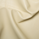 Cream Plain Soft PVC Leathercloth Faux Leather Polyester Fabric 142cm Wide