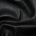Black Plain Soft PVC Leathercloth Faux Leather Polyester Fabric 142cm Wide