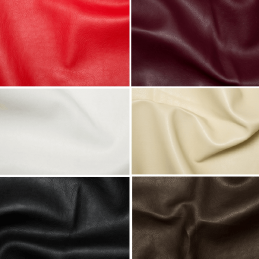 Plain Soft PVC Leathercloth Faux Leather Polyester Fabric 142cm Wide