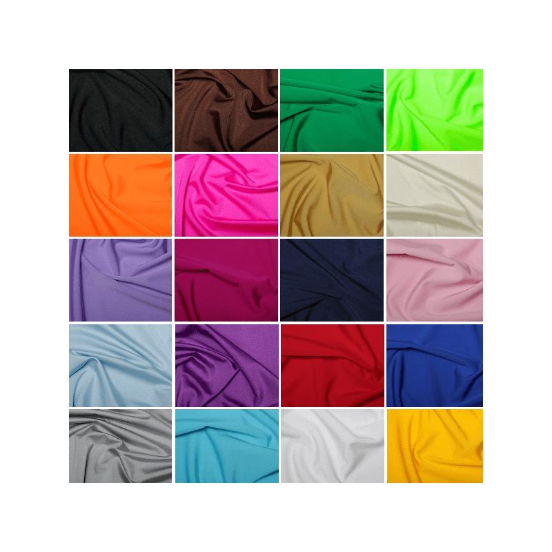Plain All Way Stretch Lycra Nylon Spandex Dress Fabric
