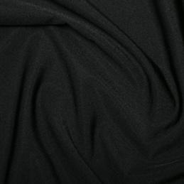 Black Plain All Way Stretch Lycra Fabric