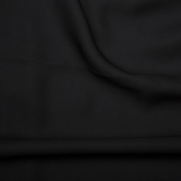 Black Double Georgette Fabric