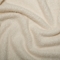 Cream Plain Towelling Fabric