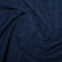 Navy Plain Towelling Fabric