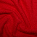 Red Plain Towelling Fabric