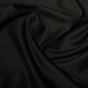Black Polycotton Gaberchino Twill Fabric
