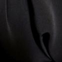 Black Plain Peachskin Fabric