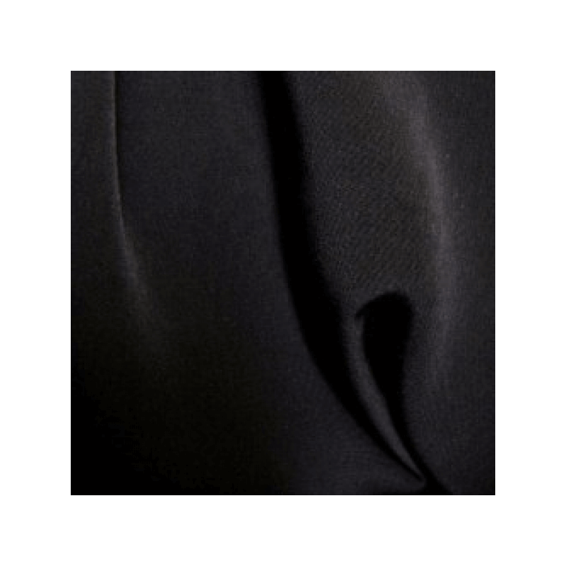 Black Plain Peachskin Fabric